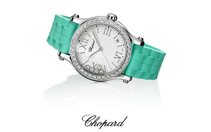 Chopard Happy Sport 36mm, Happy Summer! by Maria Elena Fabi