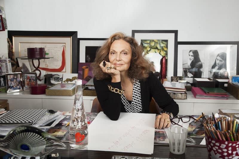 Diane von Fürstenberg surprises everyone during New York Fashion Week by Maria Elena Fabi