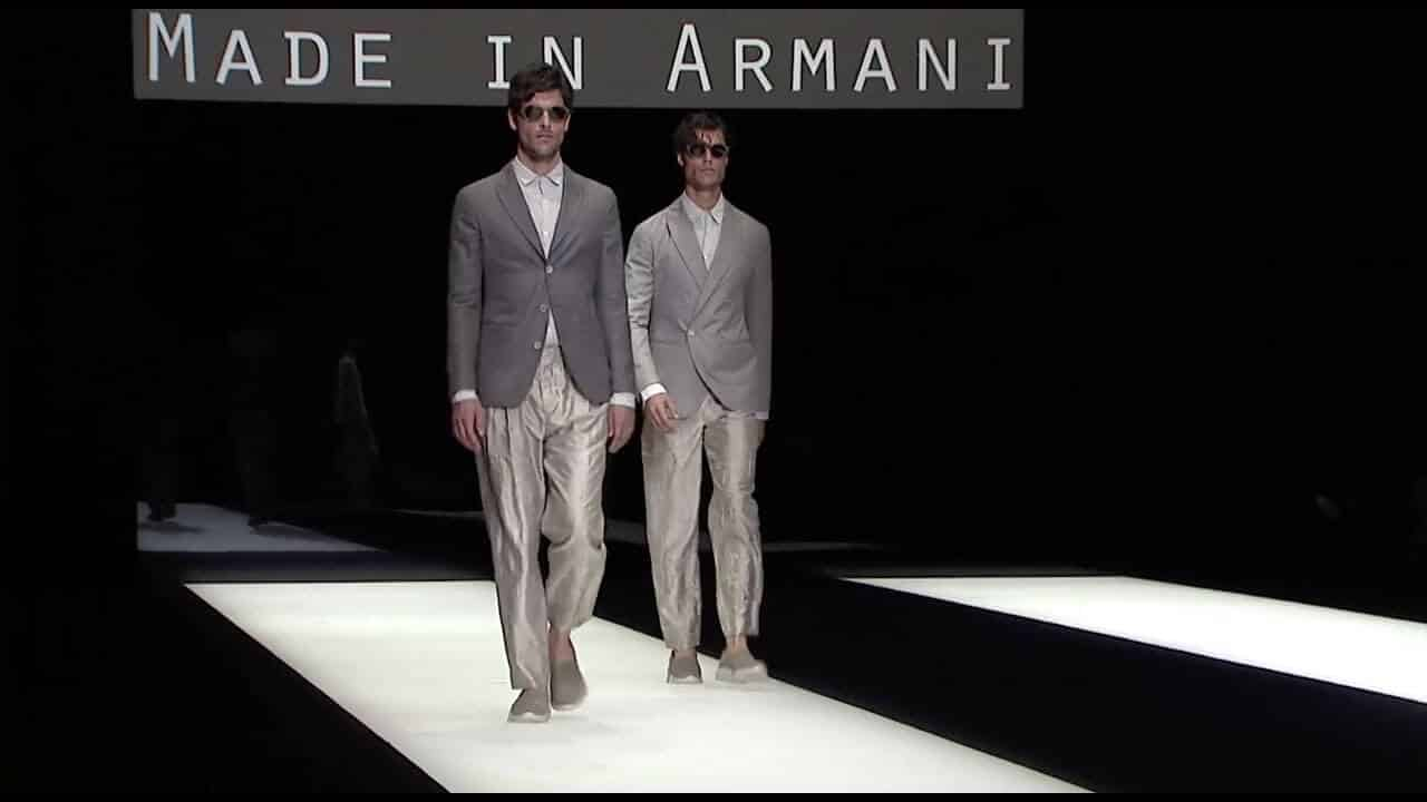 Giorgio Armani Spring Summer 2018 Men 39 S Fashion Show Tv