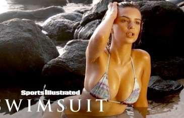 Emily Ratajkowski Wears Nothing But A Leaf, Glows Against The Sunset | Sports Illustrated Swimsuit