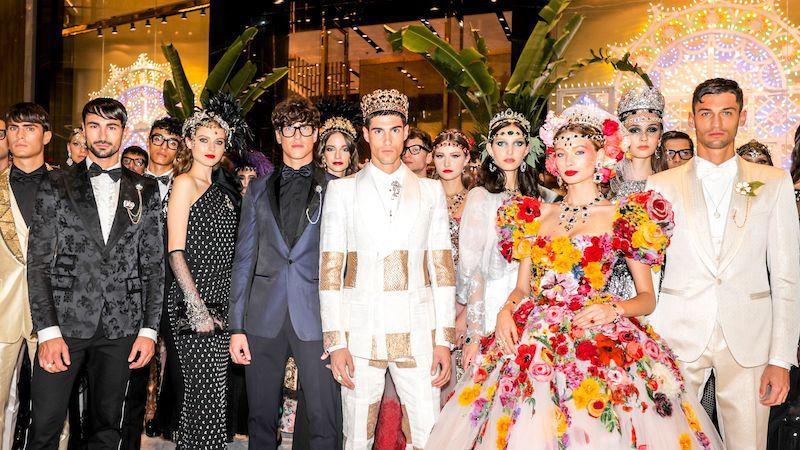 Dolce & Gabbana: Dubai Mall Fashion Show from Arabic World to Sicily by Maria Zota