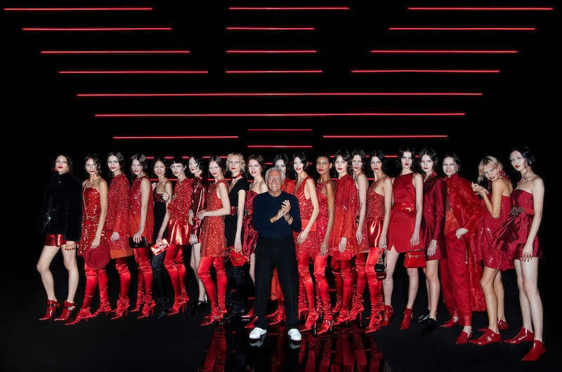 Emporio Armani, Vivacity and Free Style: Red Will be the Colour by Maria Zota & Nick Zonna